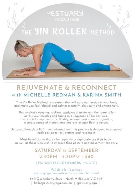 yin roller poster estuary logo with michelle redman