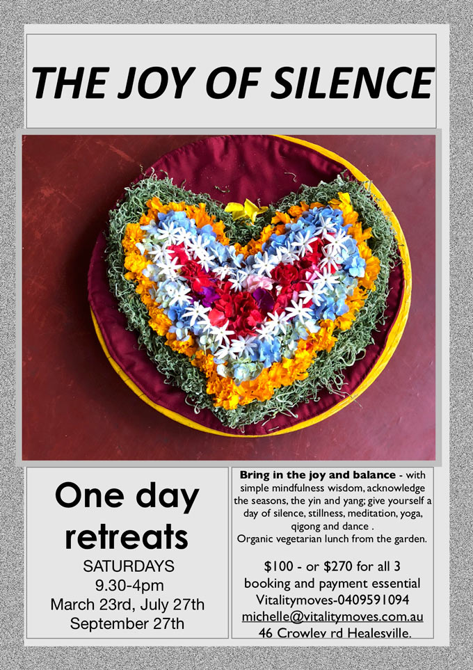 the joy of silence one day retreat
