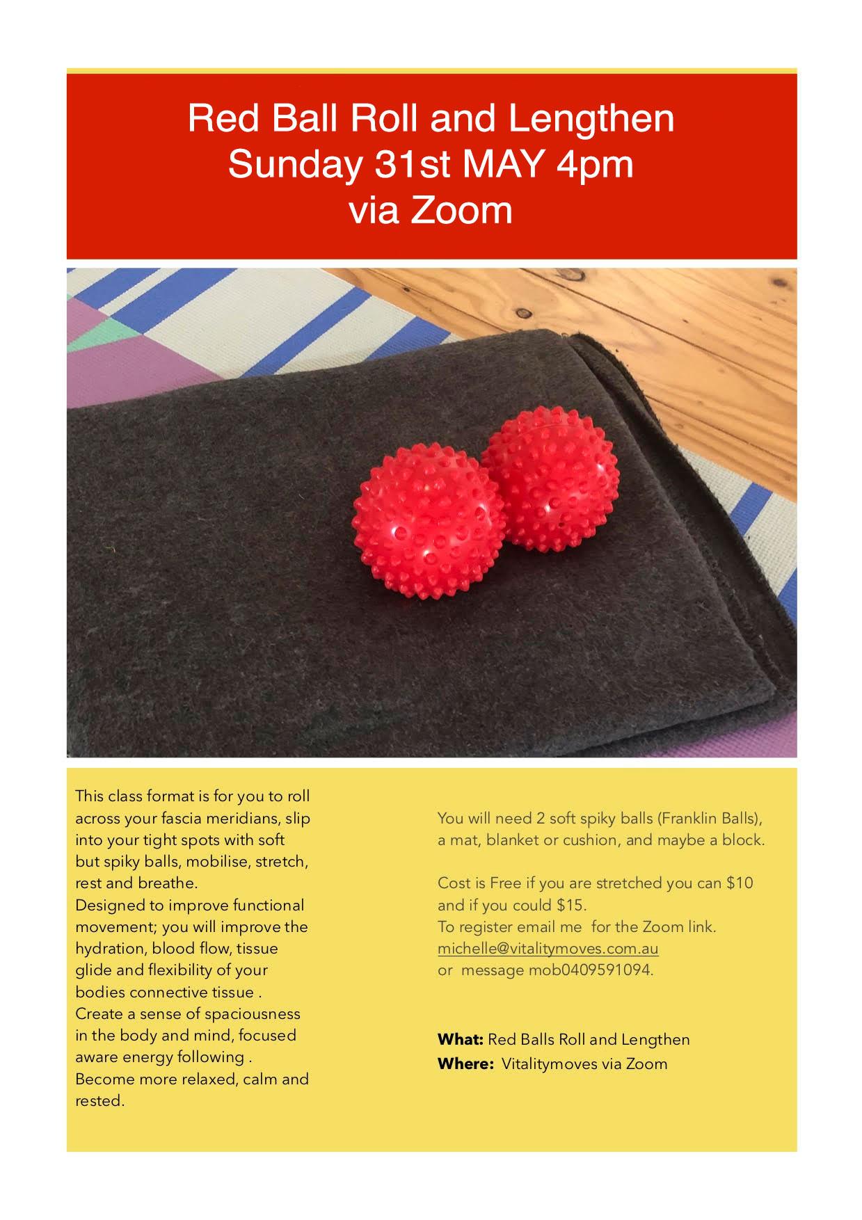 red ball lengthen class zoom